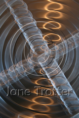 Original 'in camera' image for 'Golden Spirals' - Abstract Art by Jane Trotter