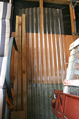 Corrugated Roofing Plastic - the original idea for 'Corrugation' and 'Over the Shoulder' Triptych