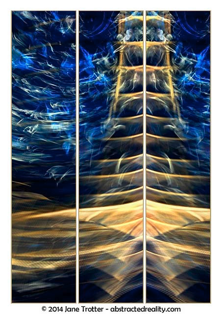 Electric Pagoda - Abstract Art by Jane Trotter
