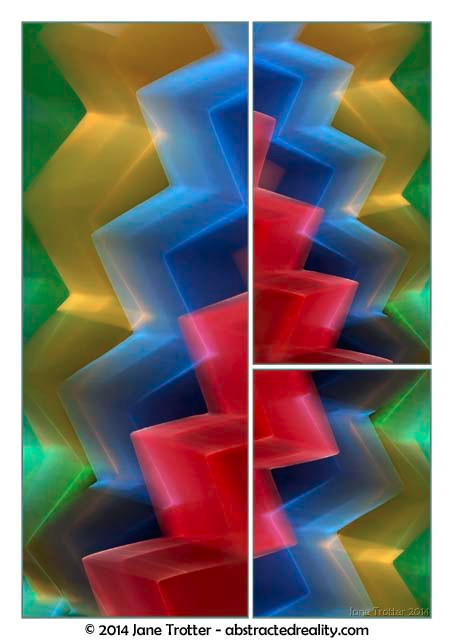Cascade - Abstract Art by Jane Trotter
