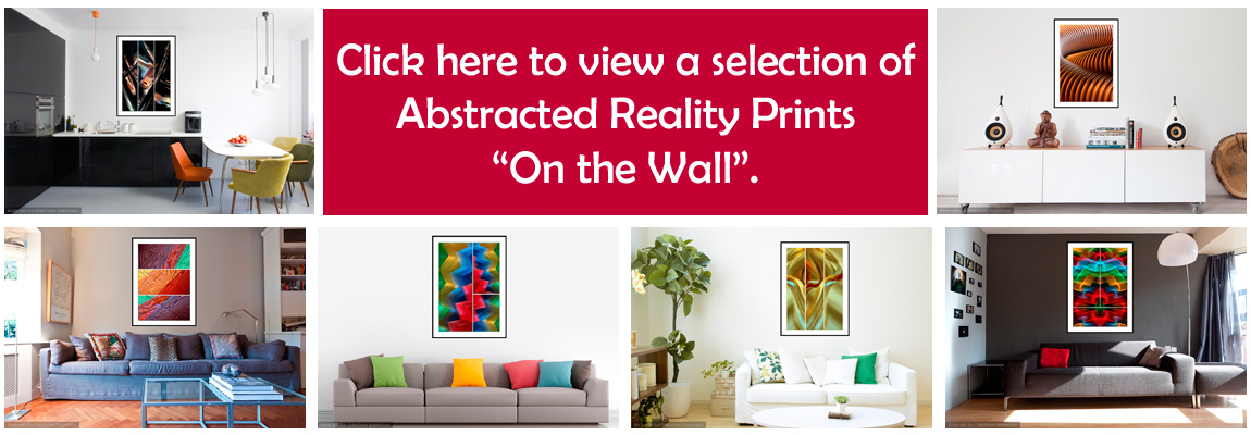 'On the Wall' views of Abstracted Reality Prints