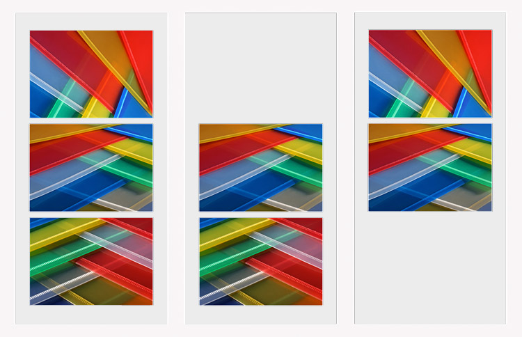 Interlaced triptych design