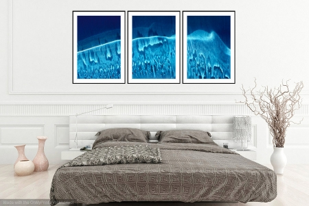 Melting Wave - On the Wall. A Fine Art Print from Abstracted Reality