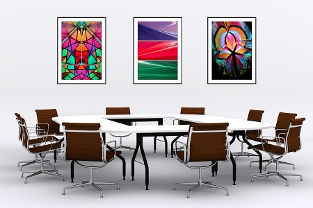 Prismatic, Crescent Moon Over Martian Dunes and Colour Cathedral - On the Wall. Fine Art Prints from Abstracted Reality