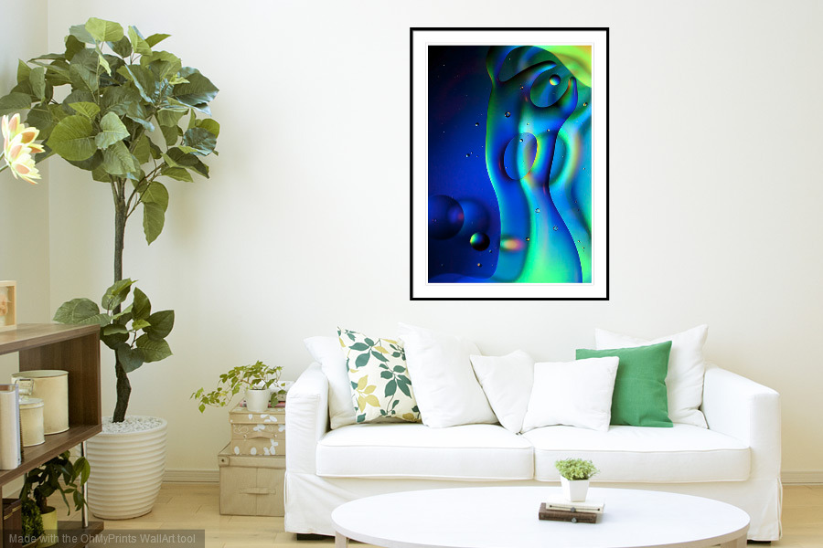 First Contact - 'On the Wall'. A Fine Art Print from Abstracted Reality