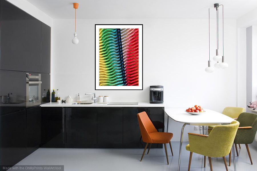 Colour Contours - 'On the Wall'. A Fine Art Print from Abstracted Reality