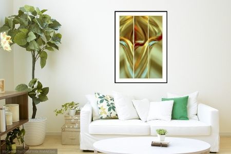 Tulip - On the Wall. A Fine Art Print from Abstracted Reality