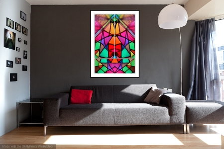 Prismatic - On the Wall. A Fine Art Print from Abstracted Reality