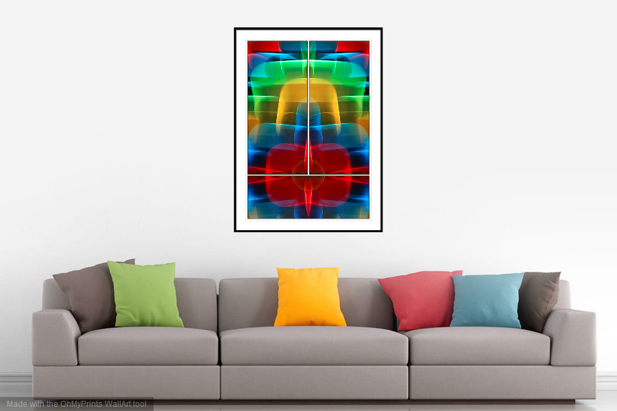 Astral Plane - 'On the Wall'. A Fine Art Print from Abstracted Reality