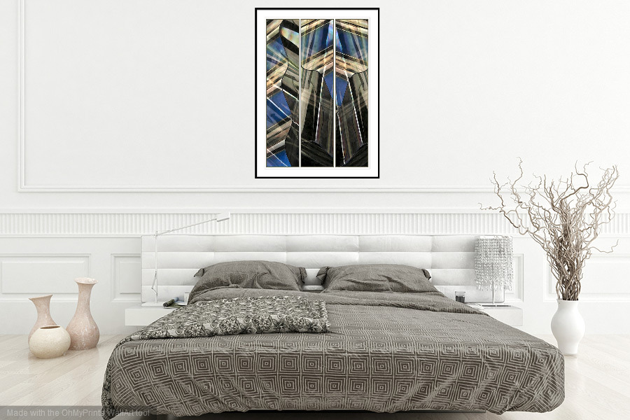 Over the Shoulder - 'On the Wall'. A Fine Art Print from Abstracted Reality
