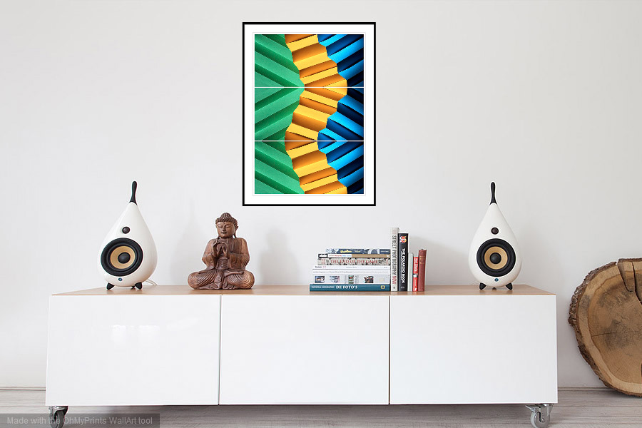Follow the Yellow Brick Road - 'On the Wall'. A Fine Art Print from Abstracted Reality
