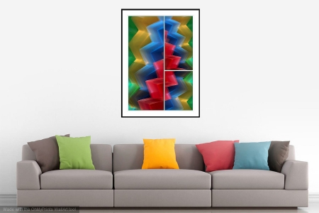 Cascade - On the Wall. A Fine Art Print from Abstracted Reality