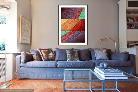 Ingrained - On the Wall. A Fine Art Print from Abstracted Reality