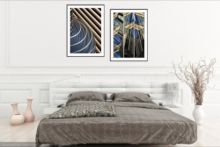Blinded by the Light & Over the Shoulder - On the Wall. Fine Art Prints from Abstracted Reality