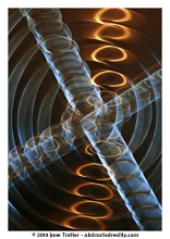 Golden Spirals - A Fine Art Print from Abstracted Reality