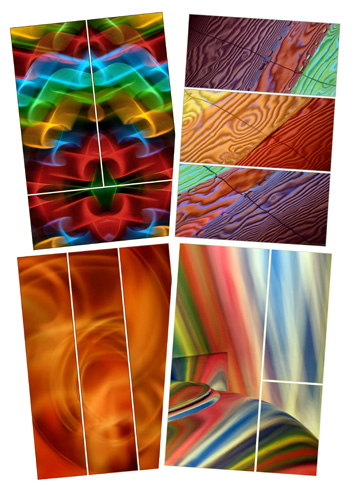 A collection of Triptychs by Jane Trotter