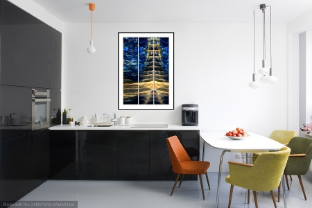 Electric Pagoda - On the Wall. A Fine Art Print from Abstracted Reality