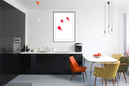 A Touch of Red - On the Wall. A Fine Art Print from Abstracted Reality