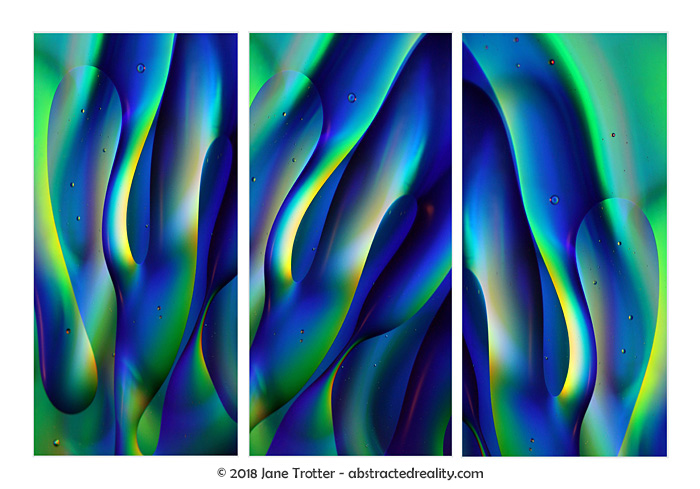 An additional variation of 'Undulation' - abstract art by Jane Trotter