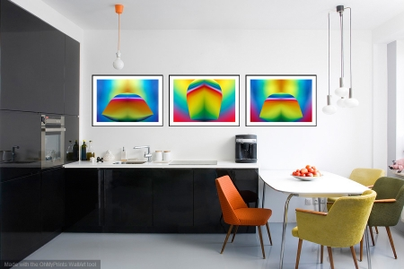 Three of a Kind - On the Wall. A Fine Art Print from Abstracted Reality