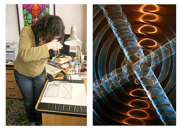 The creation of 'Golden Spirals' - abstract photography by Jane Trotter