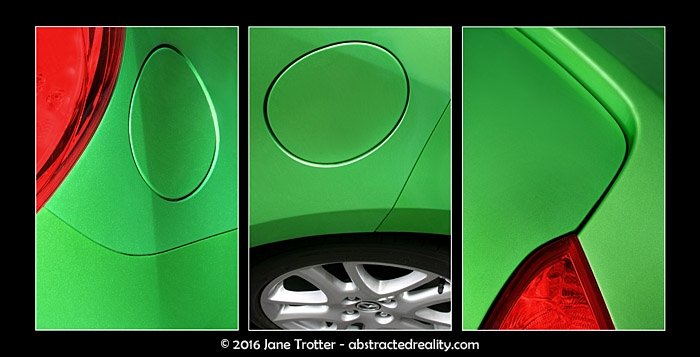 'My Mazda' - Abstract Art by Jane Trotter