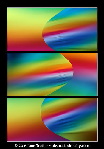 'Rainbow Surfing' - Abstract Art by Jane Trotter