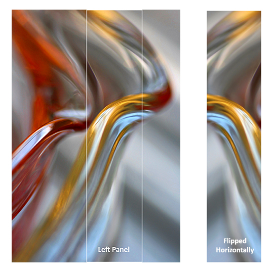 Left Panel for the Triptych 'Tulip' - abstract art by Jane Trotter