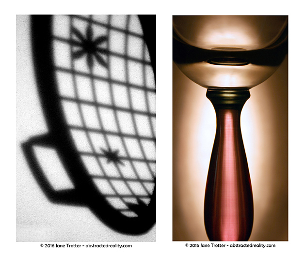 'Around the Basket' & 'Imbibing the Light' - abstract art by Jane Trotter