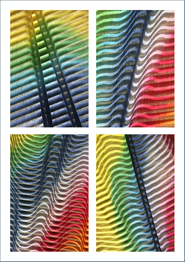 The creative process behind the image 'Colour Contours' - Abstract Art by Jane Trotter