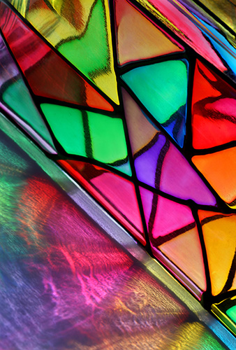 Glass Triangles - abstract art by Jane Trotter
