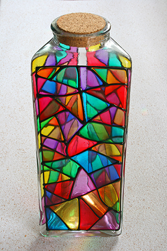 Glass vase from which 'Glass Triangles' and 'Prismatic' were created