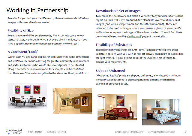 Image of Catalogue Page - Download the catalogue for Interior Designers