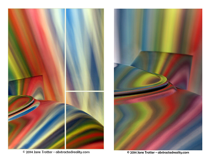 Splay of Colour & Psychedelic Brew - abstract art by Jane Trotter