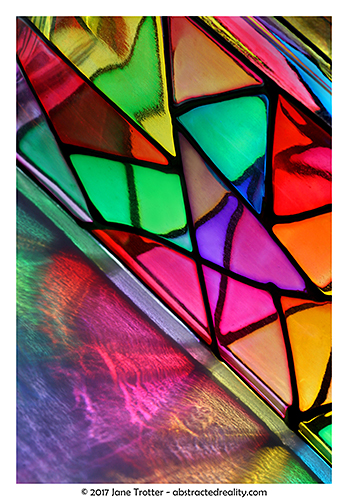 'Glass Triangles' - abstract photography by Jane Trotter