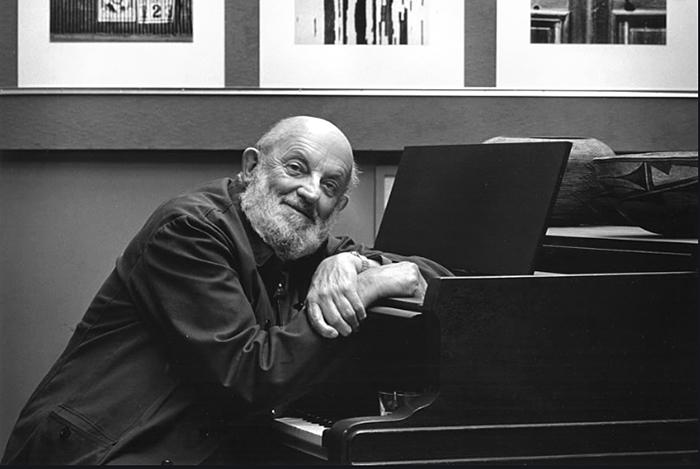 Ansel Adams at the piano, 1982