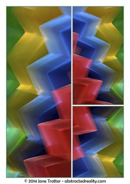 'Cascade' - Abstract Art by Jane Trotter