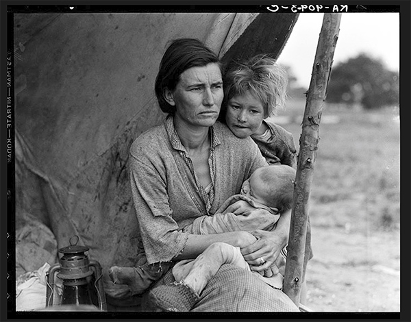 Other photographs in Dorothea Lange's sequence of images