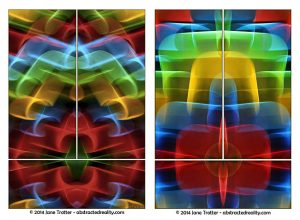 'Mystique' and 'Astral Plane' - Abstract Art by Jane Trotter