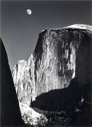 'Moon and Half Dome'